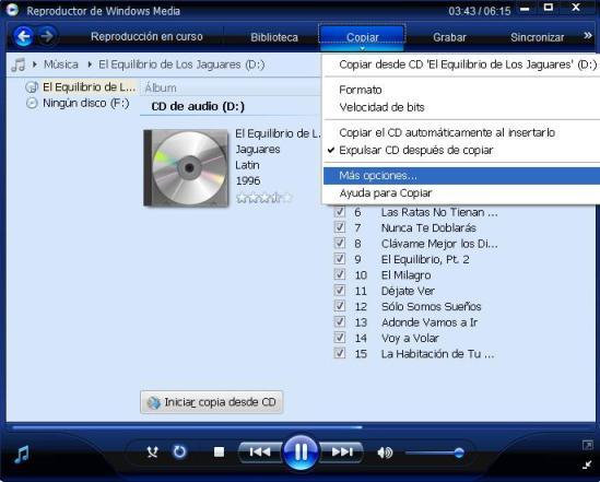 copiar desde cds