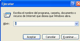 ejecutar windows