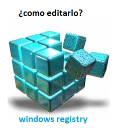 Editar registro de windows