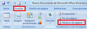 Como insertar numero de pagina en word 07