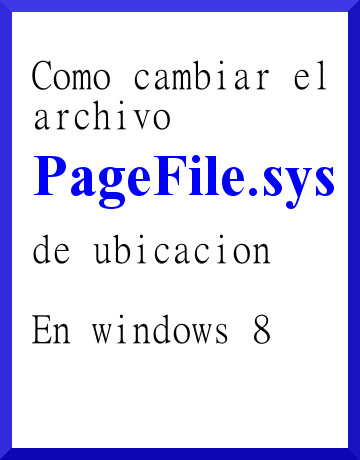 pagefile.sys en windows 8