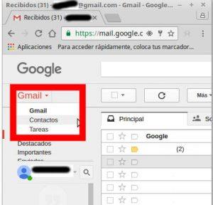 administrar contactos gmail